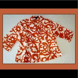 Ashley Stuart Plus Size Linen Peplum Jacket